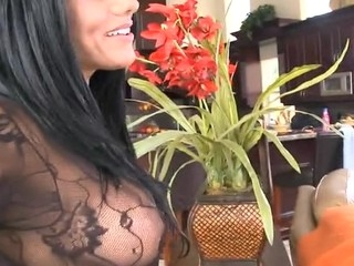 Sappy cutie with great plunder sucks dick plus gets pounded hard